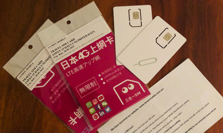 Sim card purchase laid out