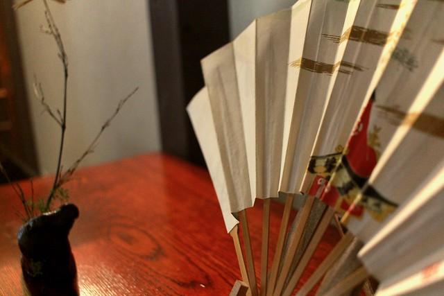 Japanese fan on a cabinet